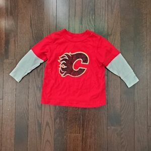 ✅ 5/$25! Boys NHL Calgary Flames t-shirt 1…